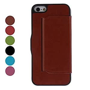 Solid Color Full Body Case with Magnetic Snap for iPhone 5/5S (Assorted Colors) --- COLOR:Rose