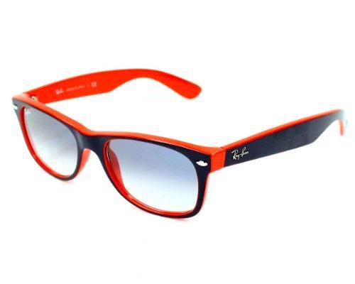 Ray-Ban RB2132 789/3F NEW WAYFARER Unisex Sunglasses Gradient (Blue Orange Frame / Gradient Blue Lens 789/3F, - Ray Color Ban