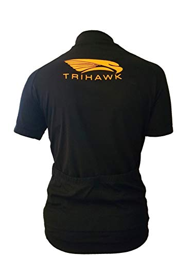 Trihawk Kids Personalised Cycling Jersey Short Sleeved With Two Rear Pockets. Soft Touch Breathable Sports Performance…