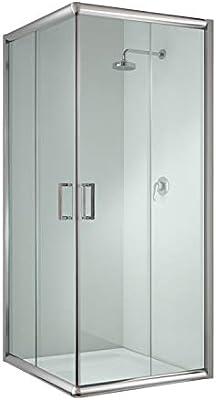 Cabina de ducha cuadrada, 90 x 90 x 198 cm, transparente, 6 mm ...