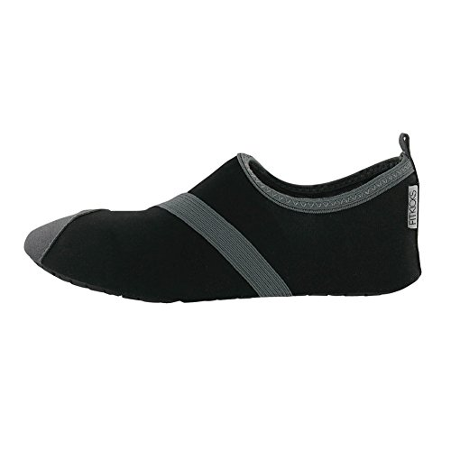 Collections Etc Fitkicks Active Lifestyle Slip-on Footwear, Black, X-Large