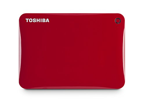 Toshiba Canvio Connect II 1TB Portable Hard Drive, Red