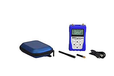 RF Explorer 3G Combo Plus Package - Includes Blue EVA Carrying Case,USB Cable, 10db Attenuator, Power Limiter and SMA Termination