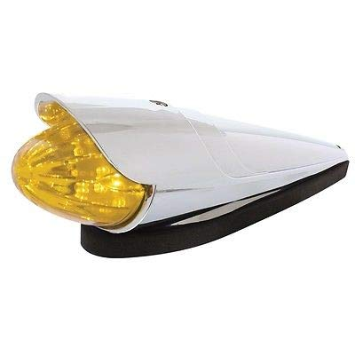 United Pacific 19 LED Grakon 1000 Style Watermelon Cab Light Kit with Visor - Amber Lens