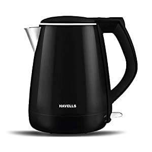 Havells Aqua Plus 1.2 litre Double Wall Kettle / 304 Stainless Steel Inner Body / Cool touch outer body / Wider mouth/ 2…