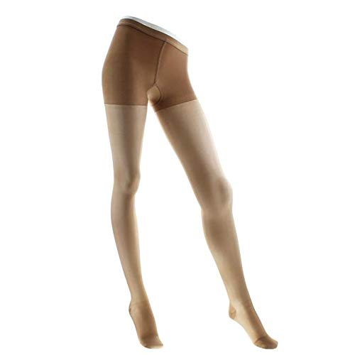 Legline Super Sheer 15-20mmHg Women's Sheer Stocking Pantyhose Closed Toe Color: Taupe, Size: X-Large ()