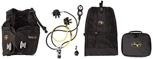 Dacor Nautica XVI BC Pacer Plus X6 Air Complete Regulator Package with Scuba Gear Bag, Black, Medium ()