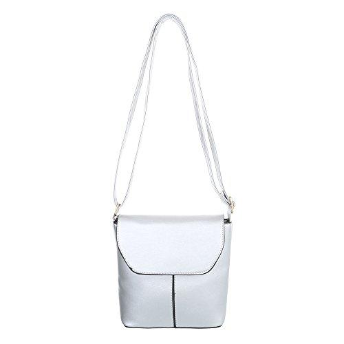 Taschen Umhängetasche Used Optik Silber