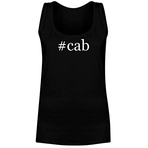 The Town Butler #cab - A Soft & Comfortable Hashtag Women's Tank Top, Black, Large