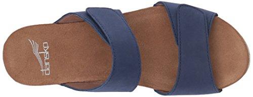 Dansko Womens Vienna Slide Sandal Blue Milled Nubuck G8vRPFPEF