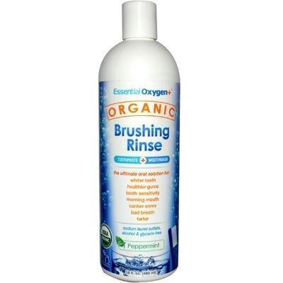 Essential Oxygen Organic Brushing Rinse Peppermint -- 16 fl oz