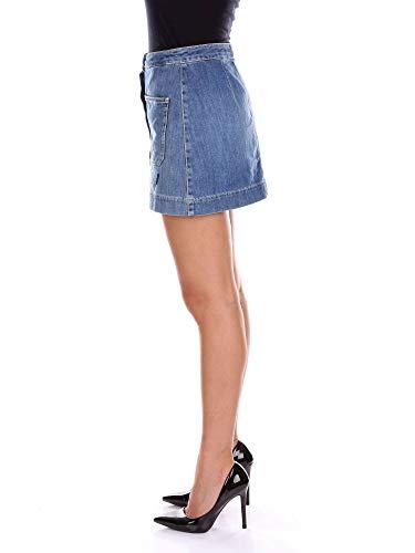 Falda Dondup Mujer G360ds107r04gbluejeans Azul Algodon HzAvSvqxw