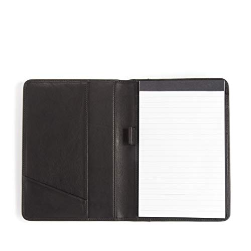 Leatherology Junior Padfolio with Pen Loop - Full Grain Leather - Black Onyx (Black)