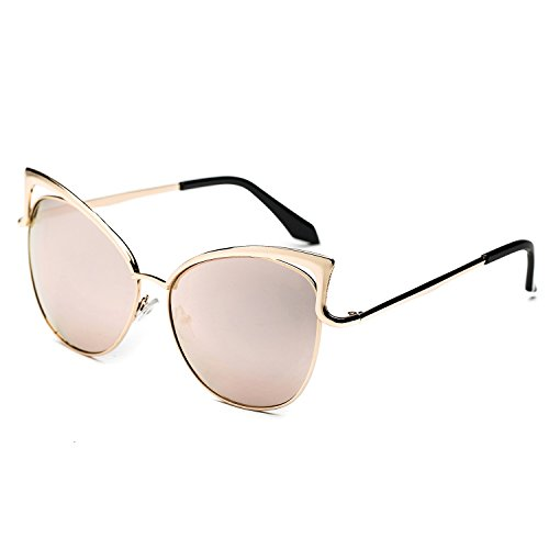 8eee57a3d66 outlet CHB Cat Eye Flash Mirror Lens Street Fashion Metal Frame Women Sunglasses  UV400