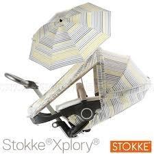 Stokke Xplory Summer Kit - Grey Lemon Stripe