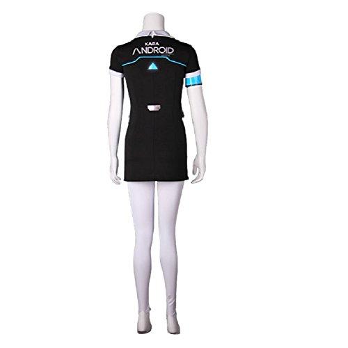 Become Human Kara Cosplay Costume Women T Shirt Dress Pants Uniform Full Set XL by Joyfunny (Image #3)