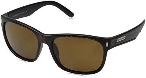 - Suncloud Dashboard Polarized Sunglasses, Blackened Tortoise Frame, Brown Lens
