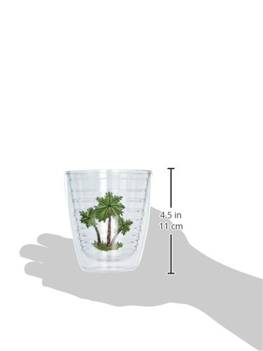 Clear Tervis 1035333 Three Palms Tumbler with Emblem 12oz