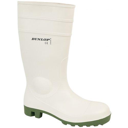 Dunlop - Botas de agua de seguridad estilo Wellingtons modelo FS1800/171BV para hombre Blanco - blanco
