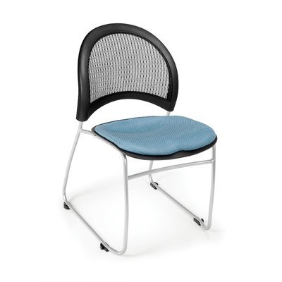 Stars and Moon Armless Stacking Chair with Cushion [Set of 4] Seat Finish: Cornflower Blue - Ofm Armless Stacking Chair