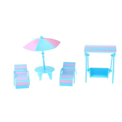 1/12 Dollhouse Miniature Beach Accessories Lounge and, used for sale  Delivered anywhere in USA