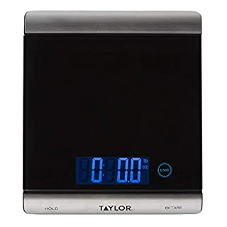 Taylor Precision Products 3851 High-Capacity Digital Kitchen Scale, 33 lb, Black