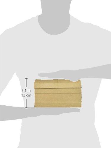 Craft Ped Paper CPLS1270S Mache Box Chest Dome Kraft