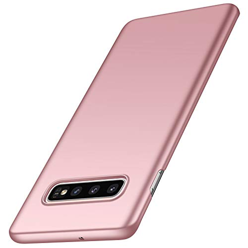 anccer Compatible for Samsung Galaxy S10 Plus Case [Colorful Series] [Ultra Thin Fit] Hard Slim Cover for Samsung Galaxy S10+ (Rose Gold)