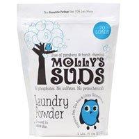 Molly's Suds Natural Laundry Powder, Free of Parabens & Harsh Chemicals, Fragrance Free & Dye Free