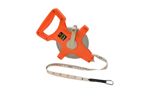 100' Manual Crank Tape Measure (Inches and Feet) by EZ Travel Collection