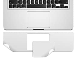 Kuzy - AIR 13inch PALMREST with Trackpad Skin Sticker Cover Silver for Apple MacBook Air 13.3\