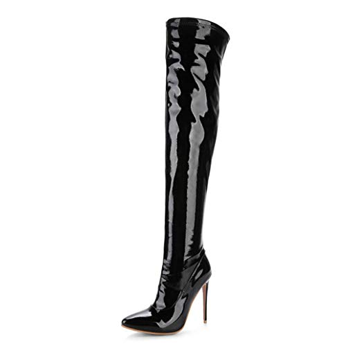 Boots Thigh High Stiletto Boots Sexy Over The Knee Boots Patent Leather Fashion Shose ()