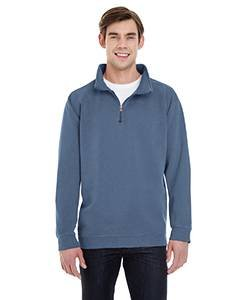 BC ADULT 1/4 ZIP SWEATSHIRT, BLUE JEAN, S