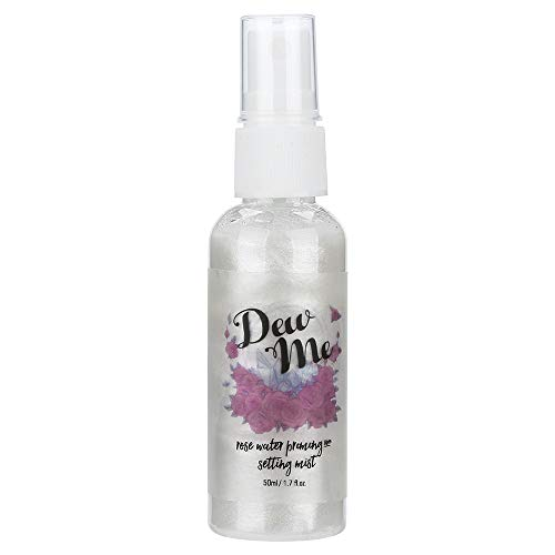 PHOERA Dew Me Rose Water Face Toner-Vovomay Rose Moisturizing Pearlescent Spray 1 Bottle Rose Water, Priming And Setting Mist (a)