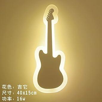 BOOTU Lámpara de mesilla LED lámpara de pared habitación niños dormitorio salón un corredor vial es una caricatura smiley ultra-delgada pared lámpara, ...