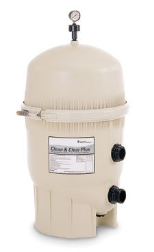 - Pentair 160301 Clean & Clear Plus Fiberglass Reinforced Polypropylene Tank Cartridge Pool Filter, 420 Square Feet, 150 GPM (Residential)