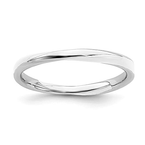 White Enameled Ring Band - 925 Sterling Silver Twisted White Enameled Band Ring Size 9.00 Stackable Ed Fine Jewelry Gifts For Women For Her