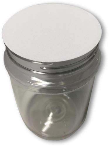 with lined fresh seal lid shatter-proof container storage pet 4 quarts 128 ounce Clearview Containers COMINHKPR142023 wide mouth 1 gallon plastic jar clear