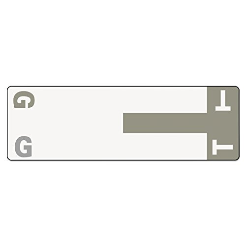SMD67158 - Smead 67158 Gray AlphaZ NCC Color-Coded Name Label - G T
