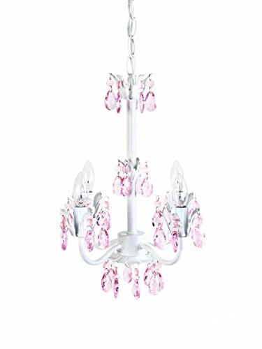 Tadpoles Sleeping Partners 4 Bulb Flower Chandelier, Pink