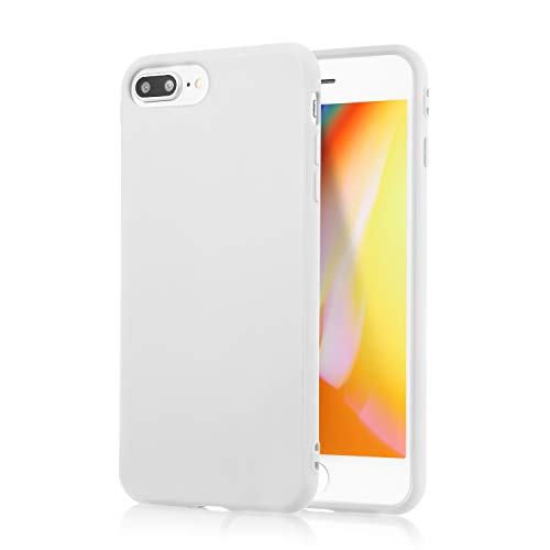 technext020 iPhone 7 Plus White Case/iPhone 8 Plus White Case, Shockproof Ultra Slim Fit Silicone TPU Soft Gel Rubber Cover Shock Resistance Protective Back Bumper for iPhone 7 Plus/iPhone 8 Plus