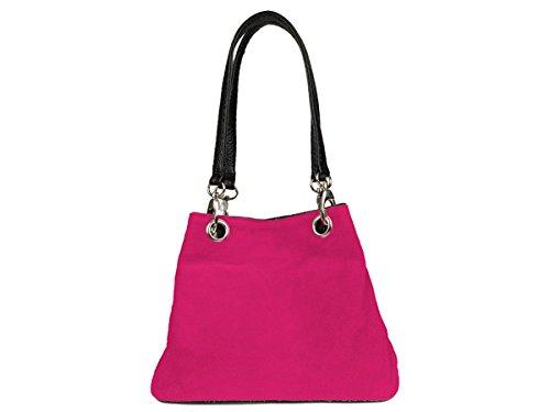scarlet bijoux, Borsa a tracolla donna rosa rosa H 19 x B 26 x T 12 cm