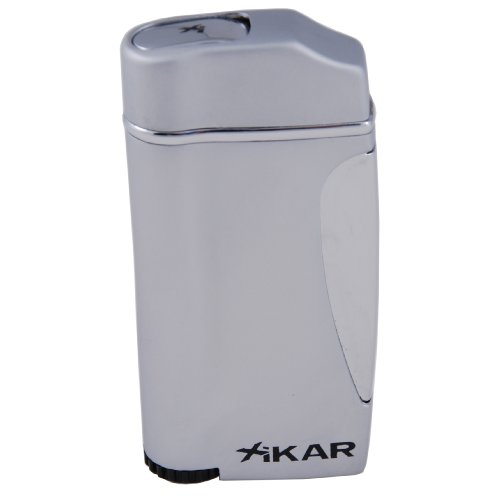 Xikar Executive Single Jet Torch Lighter - Silver ()