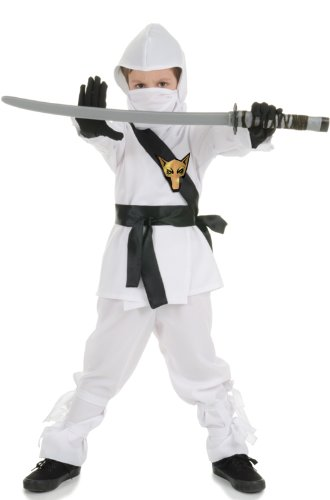 Underwraps Ninja Costume, White, Large