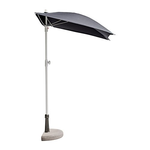 Ikea Bramson/Fliso   Parasol with Base   Black, 60x37 cm: Amazon