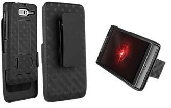- Shell Belt Clip Holster Combo Case and Kick Stand for VZW Motorola Droid Razr M M XT907 Razr M XT 907