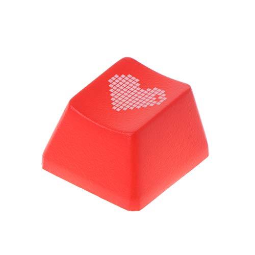 GMSP Cute Love Heart Pattern Keyboard Keycap Mechanical Enter/ESC Key Cap Hat for PC Computer (Escape) (Enter Key)