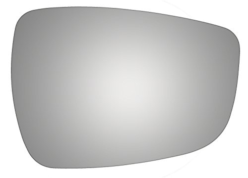 Diagonal Accent - Burco 5487 Convex Passenger Side Replacement Mirror Glass (Mount Not Included) for 2011-2015 Hyundai Elantra, 2011-2017 Hyundai Accent, 2012-2013 Hyundai Veloster