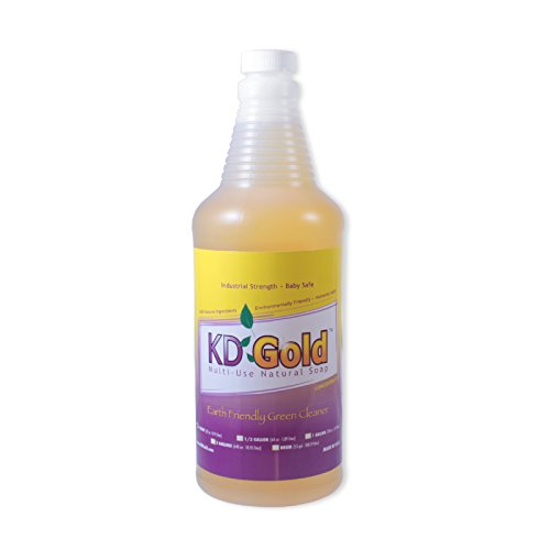 KD Gold Natural Kosher Detergent Biodegradable Non Toxic Hypoallergenic Liquid Soap Concentrate Cleaner- All-Purpose including Laundry & Veggie Wash - 1 Quart makes 2.5 to 100 gallons of Ready-to-Use