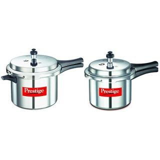 160b7f9f0 Image Unavailable. Image not available for. Colour  Prestige Aluminium  Pressure Cooker Combo